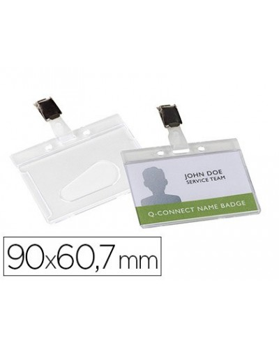 Identificador q connect rigido plastico acabado brillante con pinza kf14148 9x67 cm