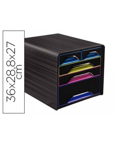 Fichero cajones de sobremesa cep 5 cajones mixtos negro multicolor 360x288x270 mm
