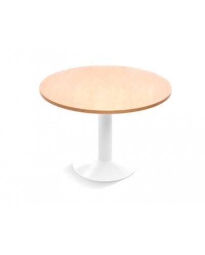 Mesa de reunion rocada meeting 3005atw05 estructura columna acero blanco tablero cristal templado 100 cm