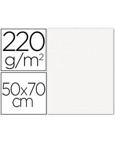 Cartulina lisa rugosa 2 texturas 50x70 cm 220g m2 blanco