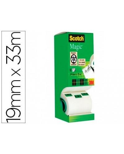 Cinta adhesiva scotch magic 33x19 mm pack de 8 unidades