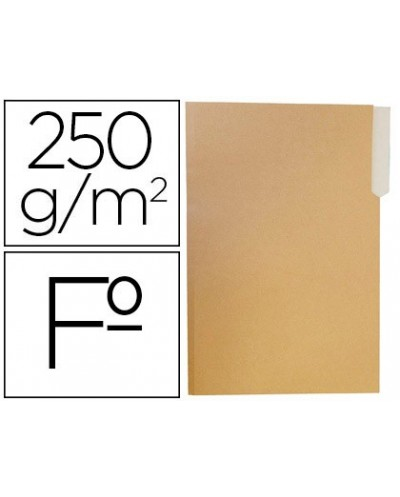 Subcarpeta cartulina gio folio pestana izquierda 250g m2 bicolor