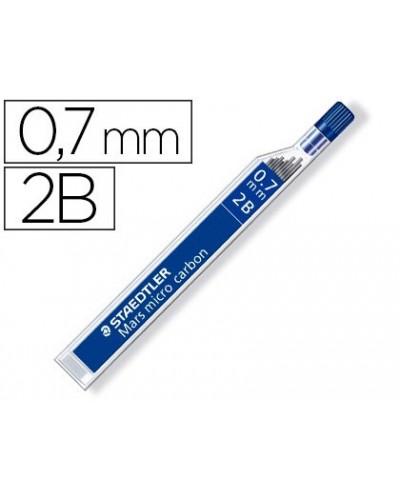 Minas staedtler mars micro grafito 07 mm 2b tubo con 12 unidades