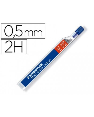 Minas staedtler mars micro grafito 05 mm 2h tubo con 12 unidades