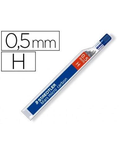 Minas staedtler mars micro grafito 05 mm h tubo con 12 unidades