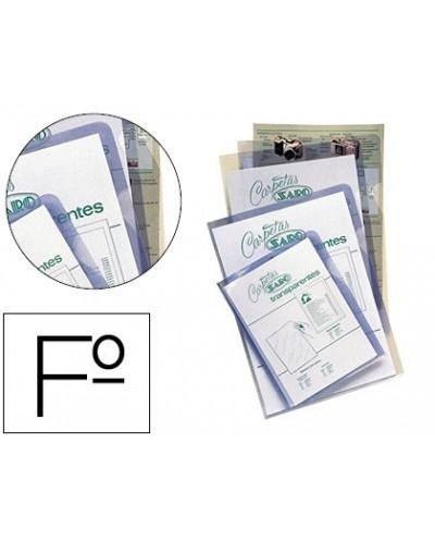 Carpeta dossier unero saro pvc folio 280 mc transparente