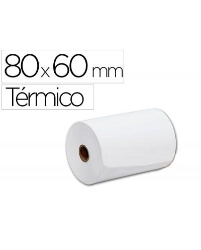 Rollo sumadora termico q connect 80 mm ancho x 60 mm diametro sin bisfenol a