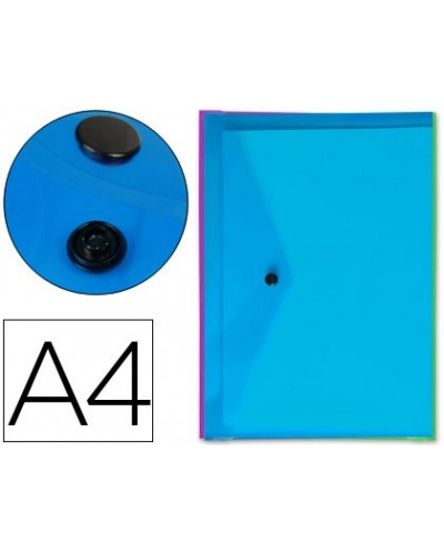 Carpeta liderpapel dossier broche transparente din a4 colores surtidos paquete de 5 retractilado