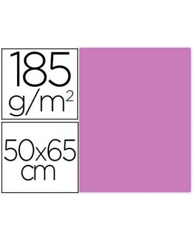 Cartulina guarro malva 50x65 cm 185 gr