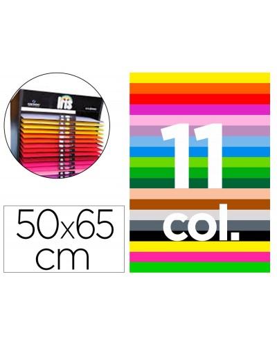 Cartulina guarro 50x65 cm contenido d 25 hojas x 11 colores 185 gr